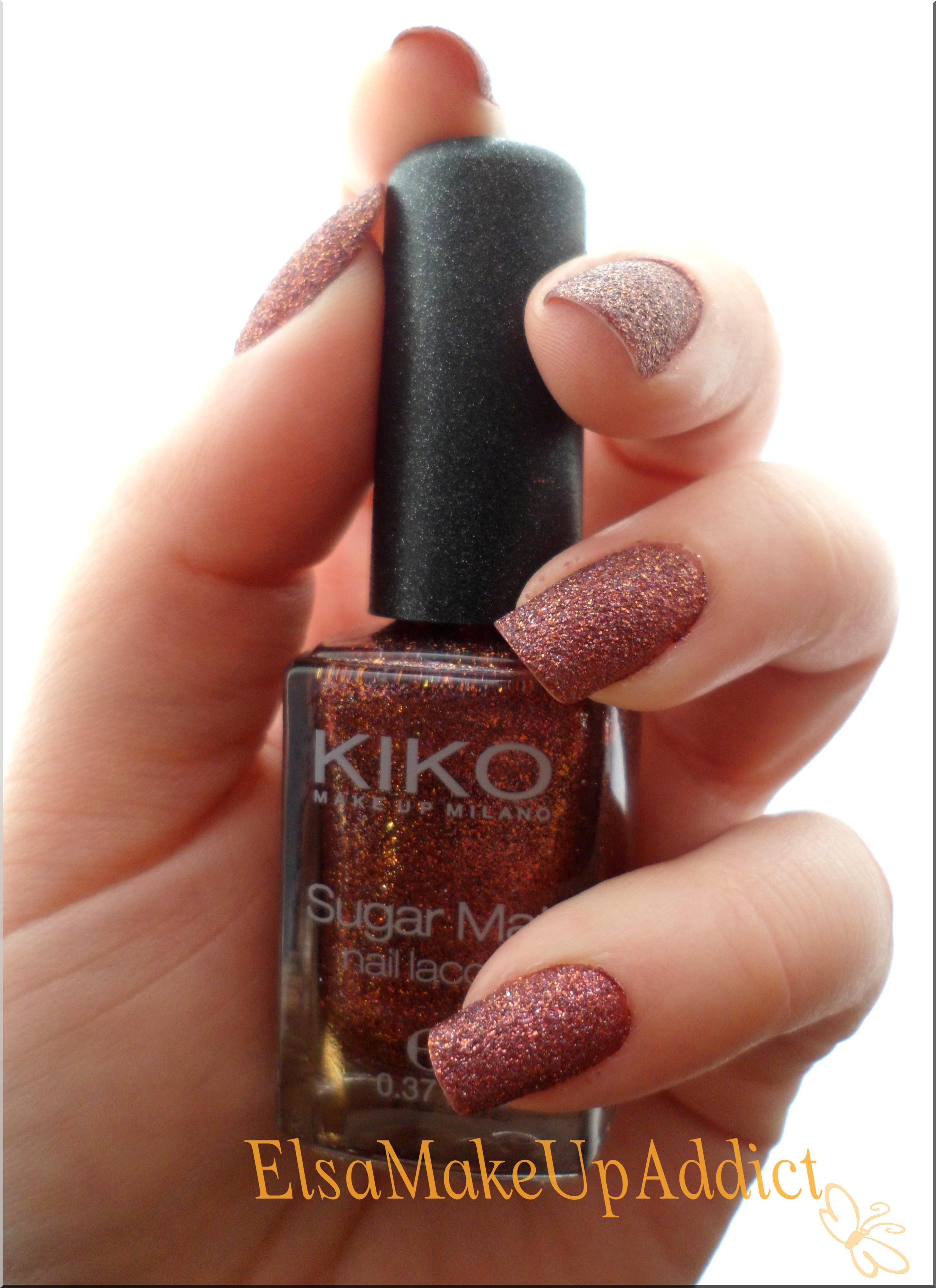 du sucre sur mes ongles avec kiko vernis sugar mat elsa makeup addict. Black Bedroom Furniture Sets. Home Design Ideas