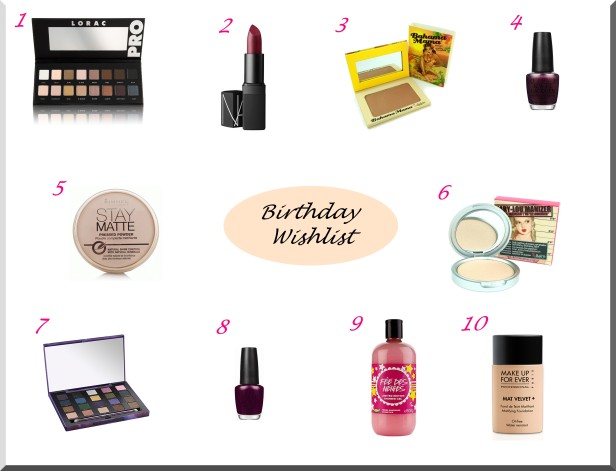 Birthday wishlist octobre