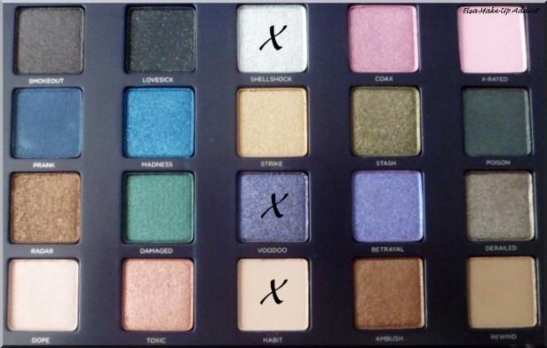 Maquillage violet argenté Vice 2 5