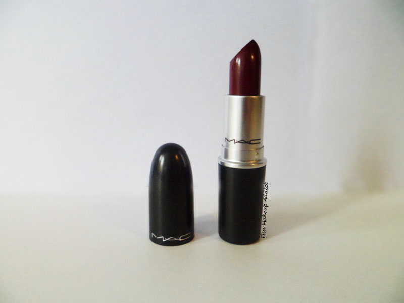 la folie des rouges l vres prunes hang up de m a c elsa makeup addict. Black Bedroom Furniture Sets. Home Design Ideas