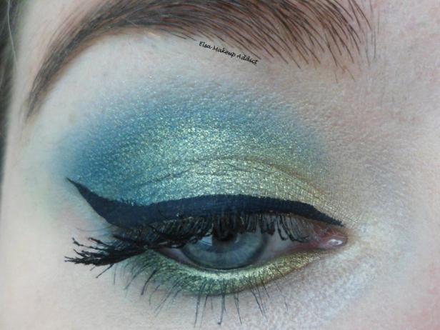 Makeup vert-doré Vice UD 2