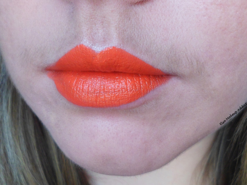 Comment porter le rouge l vres orange elsa makeup addict - Rouge a levre rouge comment le porter ...