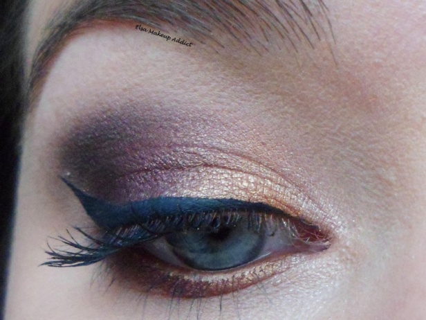 Gold and Burgundy Night Makeup Vice 3 Urban Decay 2