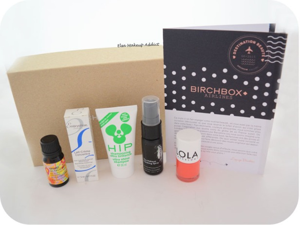 Birchbox Avril 2015 Destination Beauté 2