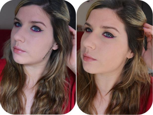A gauche : sans bronzer / A droite : avec bronzer