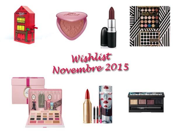 Wishlist Novembre 2015