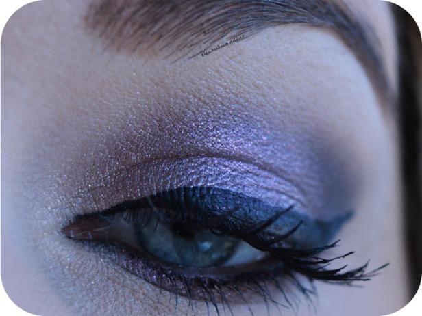 Dark Purple Makeup Noël Nouvel An 5