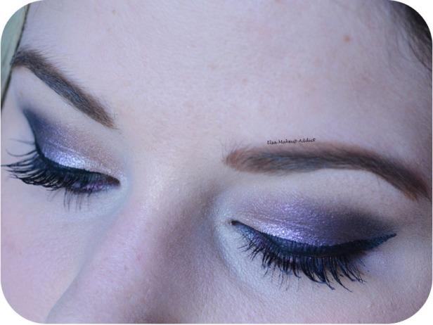 Dark Purple Makeup Noël Nouvel An 6