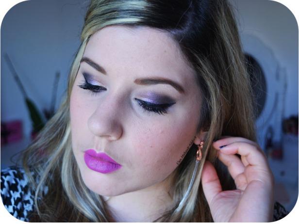 Dark Purple Makeup Noël Nouvel An 7