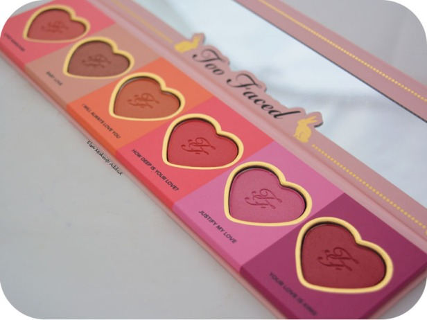 Palette Love Flush Too Faced 5