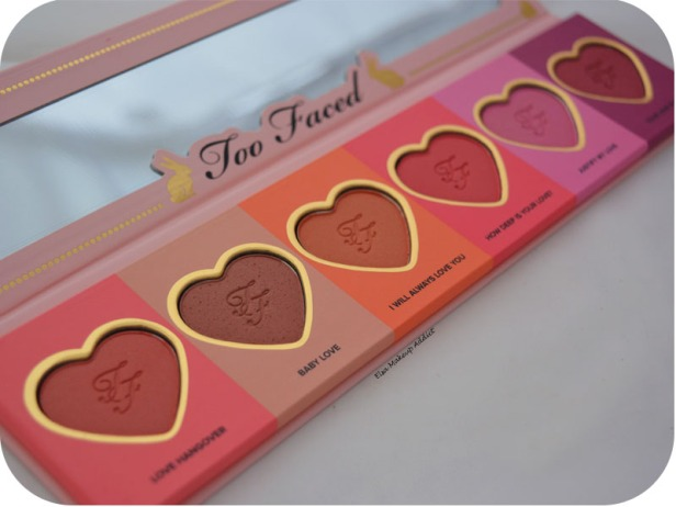 Palette Love Flush Too Faced 6