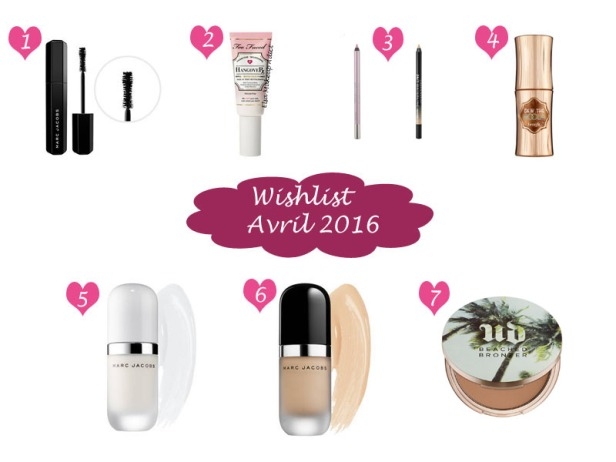 Wishlist Avril 2016