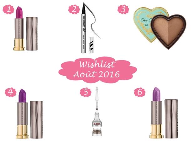 Wishlist Août 2016