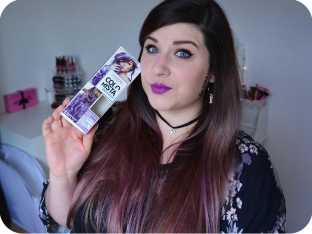 Coloration Washout Colorista L'Oréal Purplehair 13