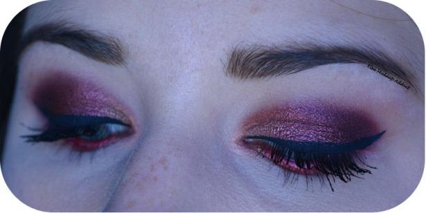 Makeup Cranberry Smokey Eye Jaclyn Hill Morphe 4