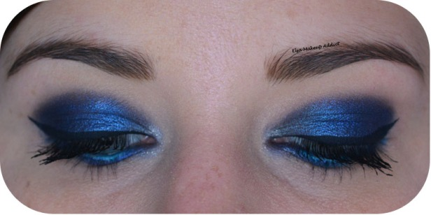 Deep Blue Makeup Kat von D Saint + Sinner 3
