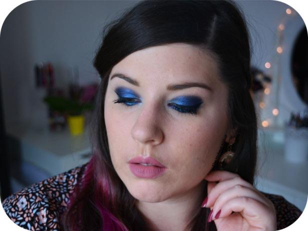 Deep Blue Makeup Kat von D Saint + Sinner 6