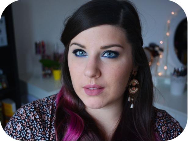 Deep Blue Makeup Kat von D Saint + Sinner 7