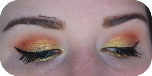 Gold Makeup Life's a Festval Too Faced 5