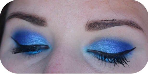 Blue Electric Makeup Huda Beauty 4