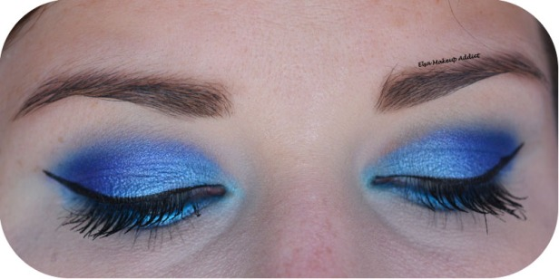Blue Electric Makeup Huda Beauty 5