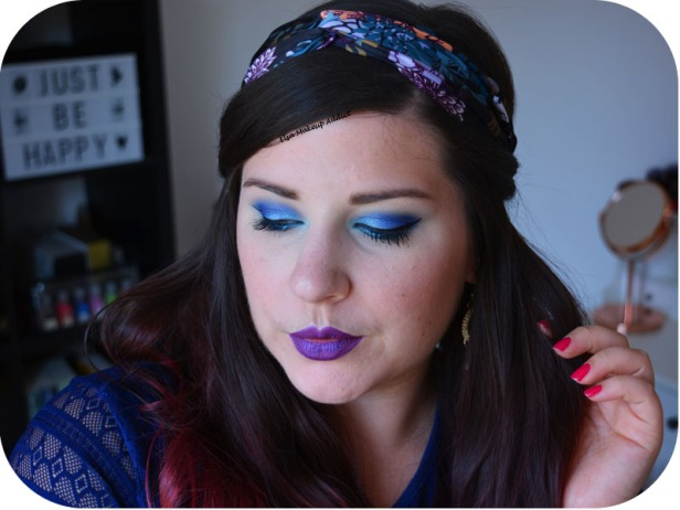 Blue Electric Makeup Huda Beauty 6