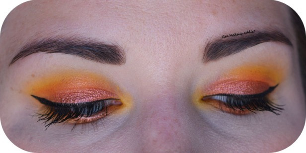 Makeup Jaune Orangé Electric Gemstone Obsessions Huda Beauty 5