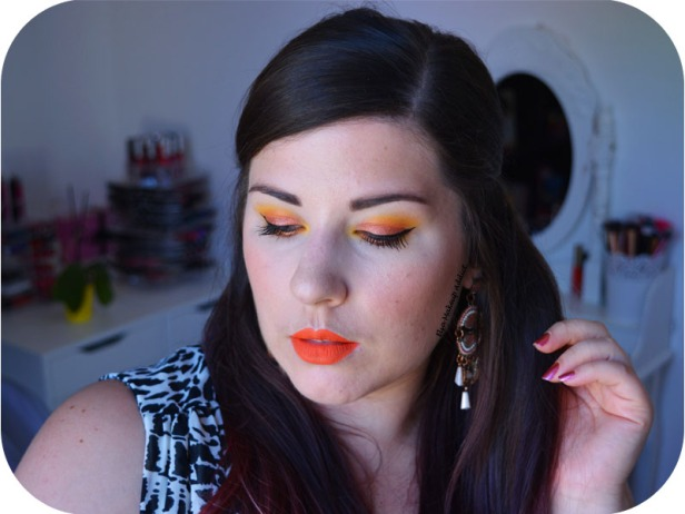 Makeup Jaune Orangé Electric Gemstone Obsessions Huda Beauty 6